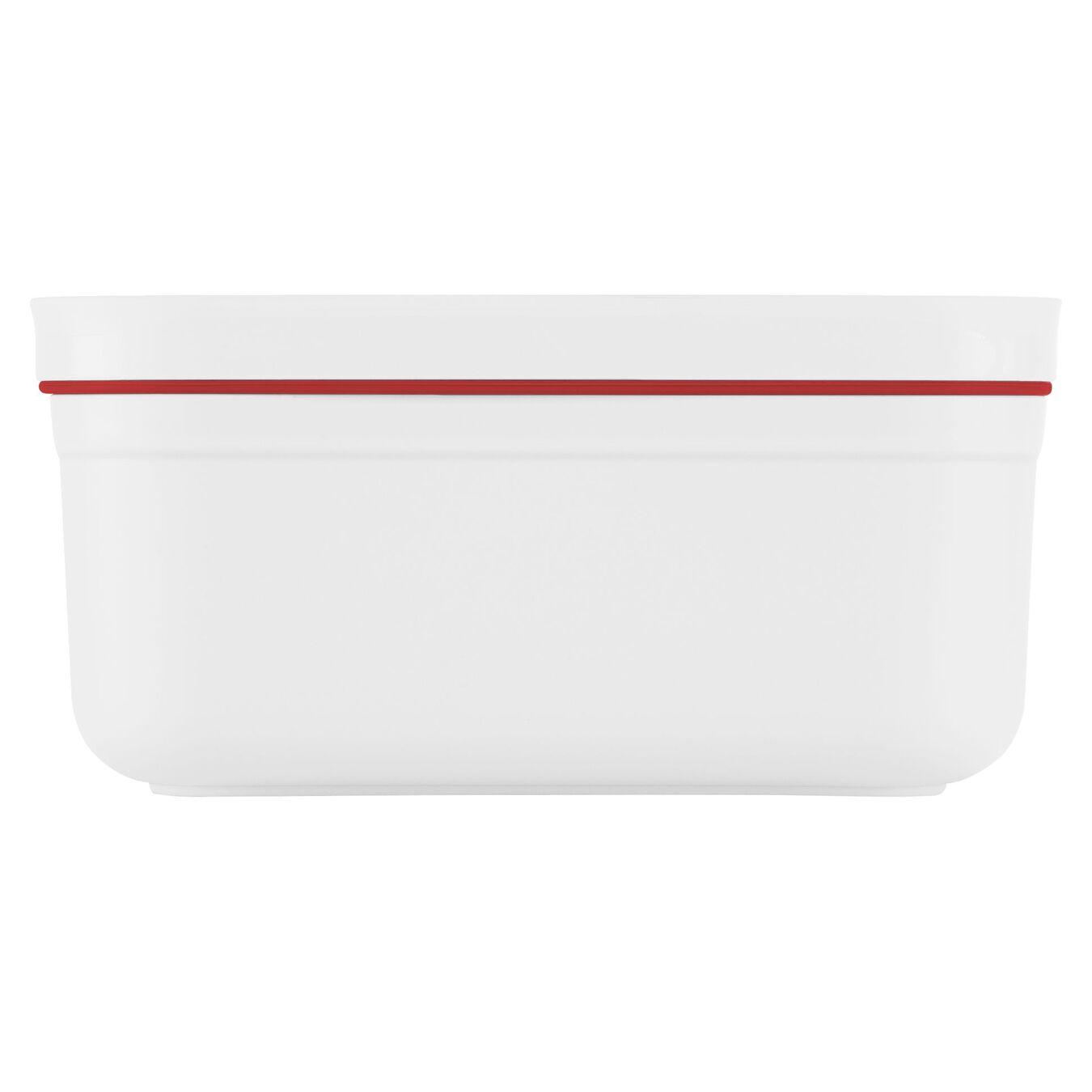 Vakuum Lunchbox, S, Kunststoff, Weiß-Rot,,large 3