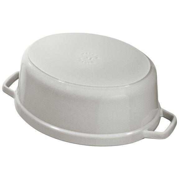 3.5-qt-/-27-cm oval Cocotte, White Truffle,,large 4