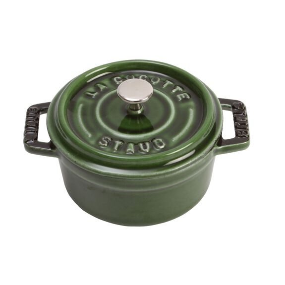 4-inch round Mini Cocotte, Basil,,large 3