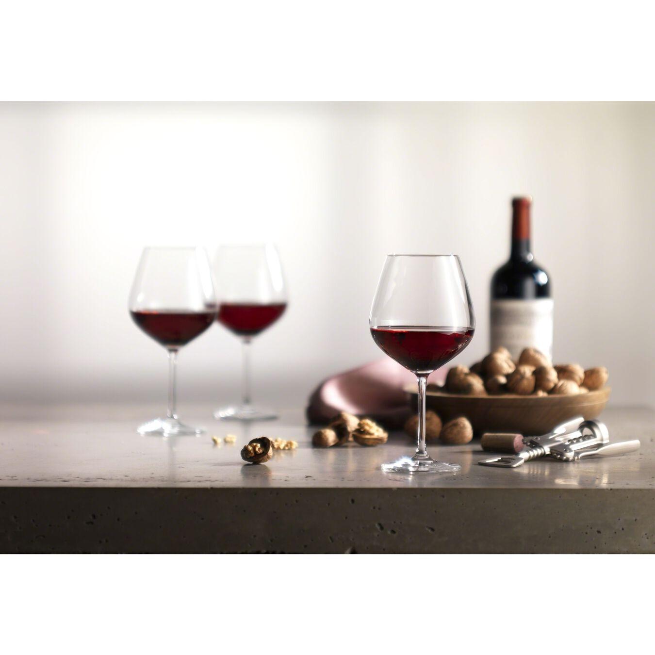 6 Piece Burgundy Large Glass set,,large 3