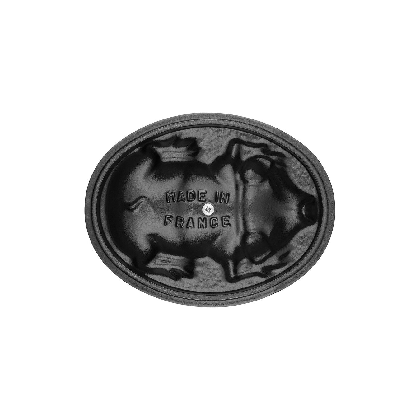 1 l Cast iron oval Faitout, Black,,large 2