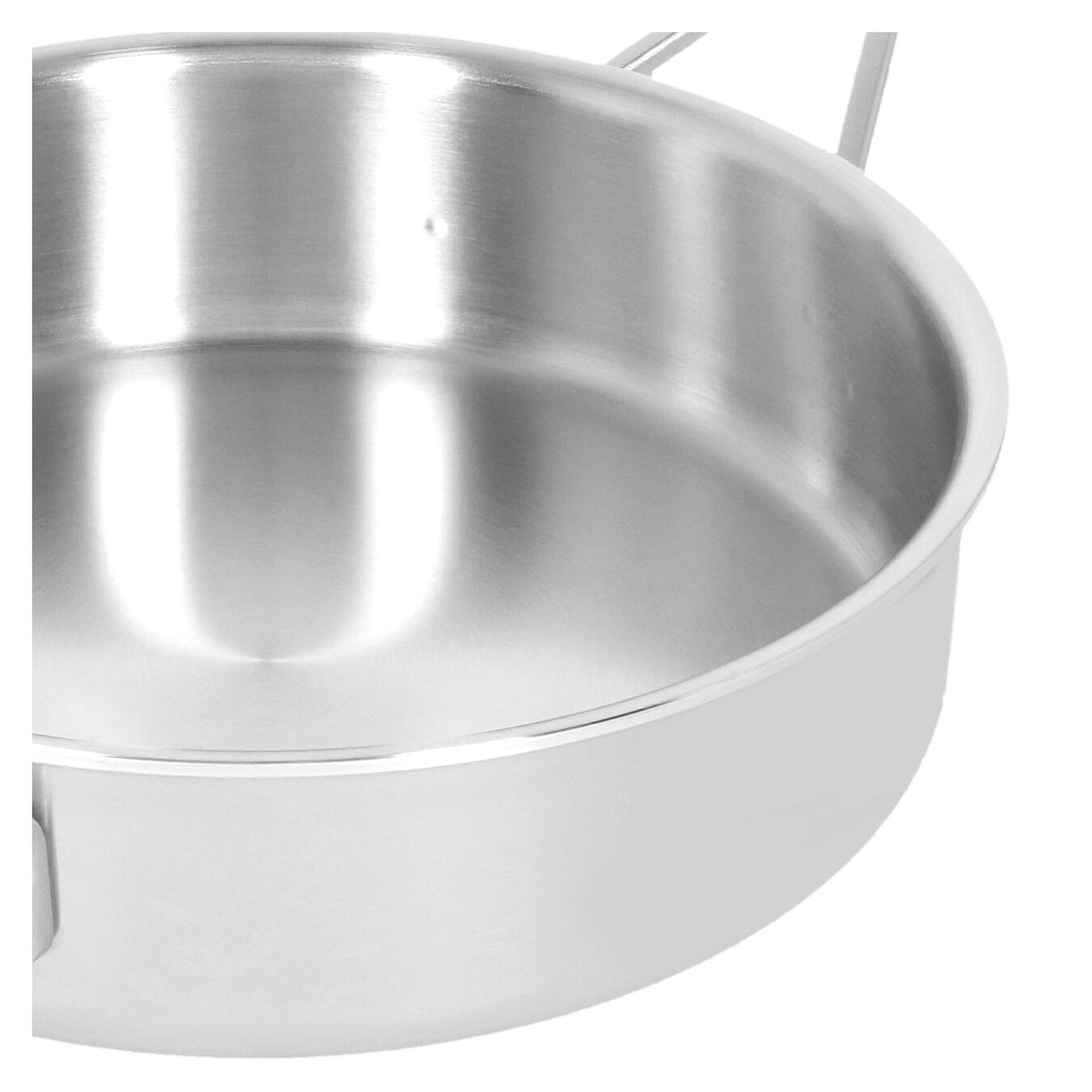 9.5-inch Saute pan with lid, 18/10 Stainless Steel ,,large 2