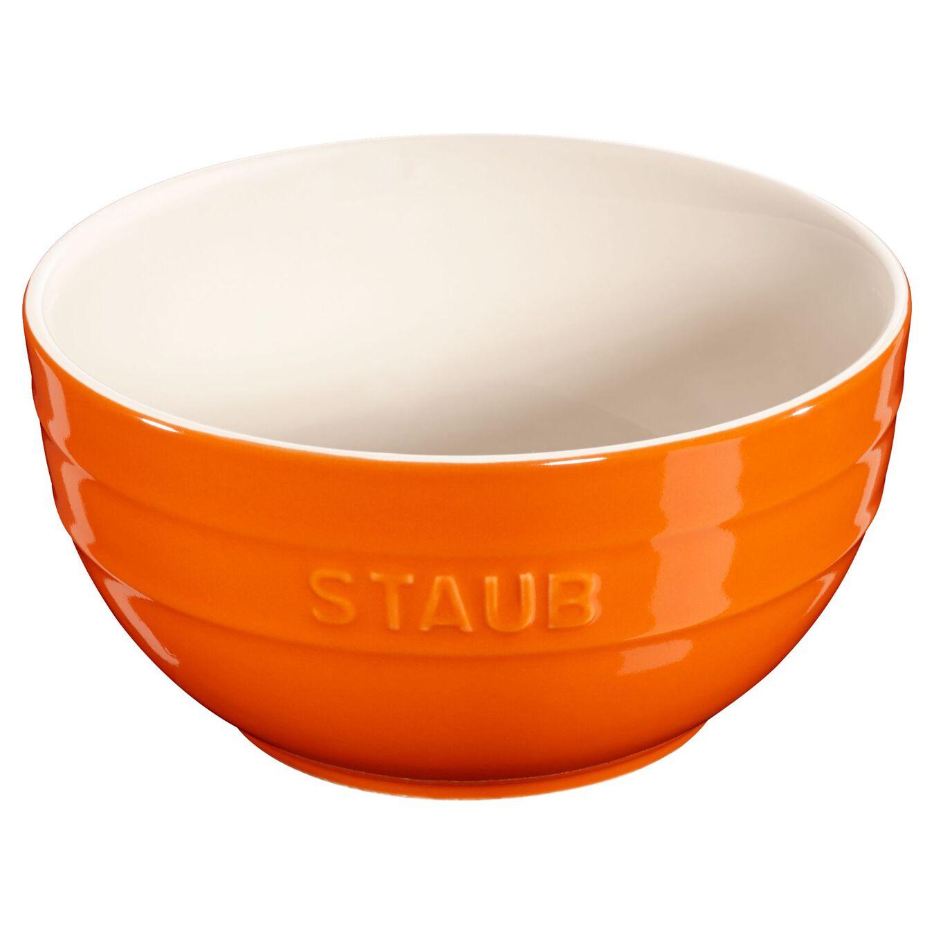 Bol 17 cm, Orange, Céramique,,large 1