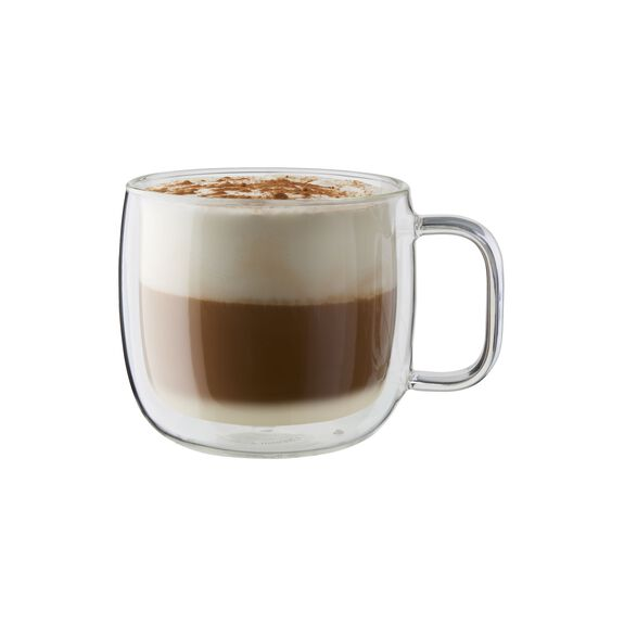 2-pc Double-Wall Glass Cappuccino Mug Set,,large