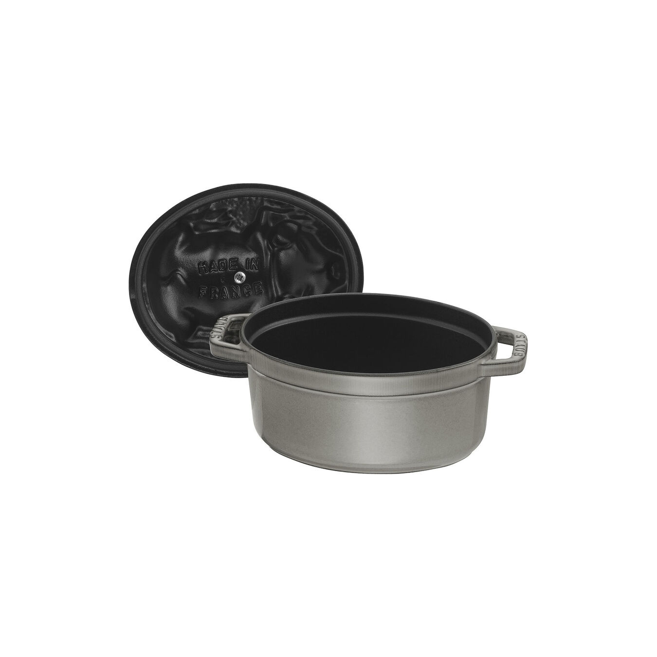 1 qt, oval, Cocotte, graphite grey,,large 6
