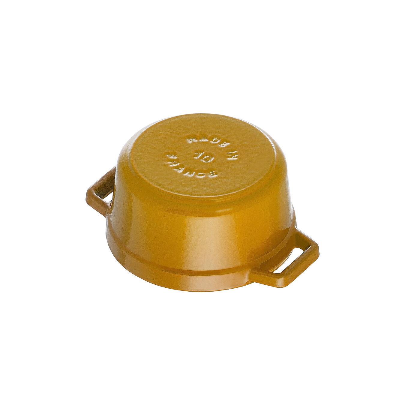 Mini Cocotte 10 cm, rund, Senf, Gusseisen,,large 4