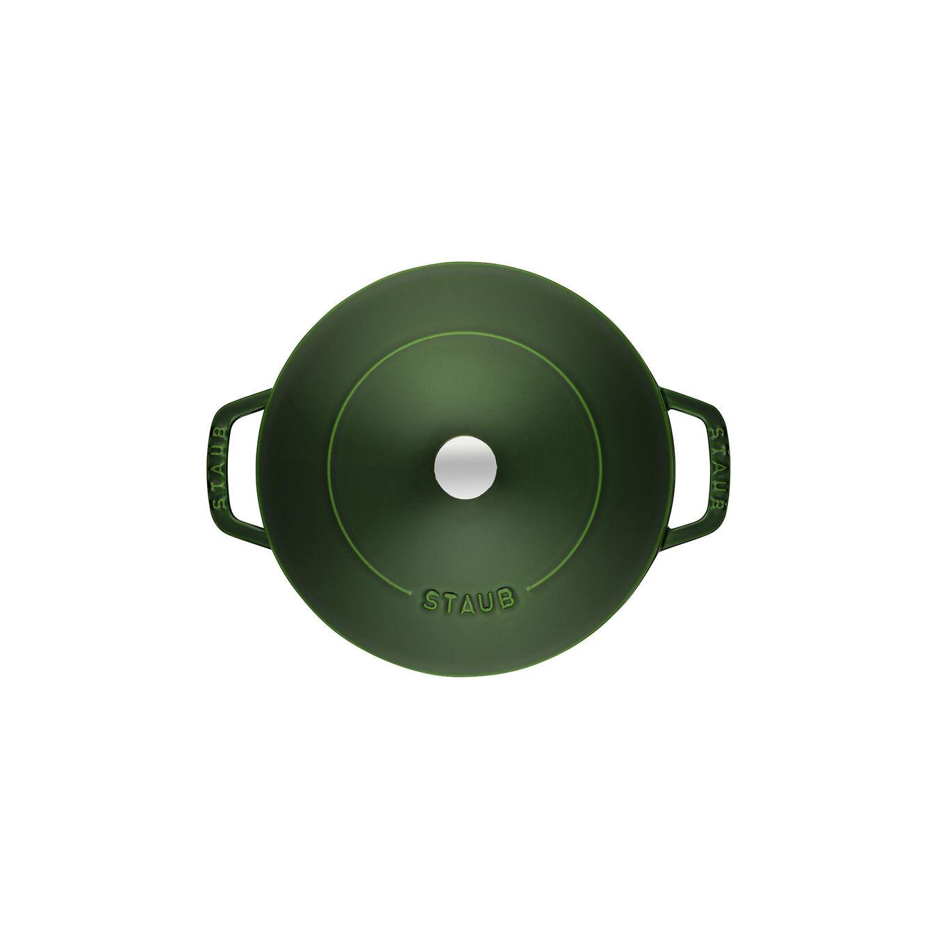 3.75 l Cast iron round Saute pan Chistera, Basil-Green,,large 5