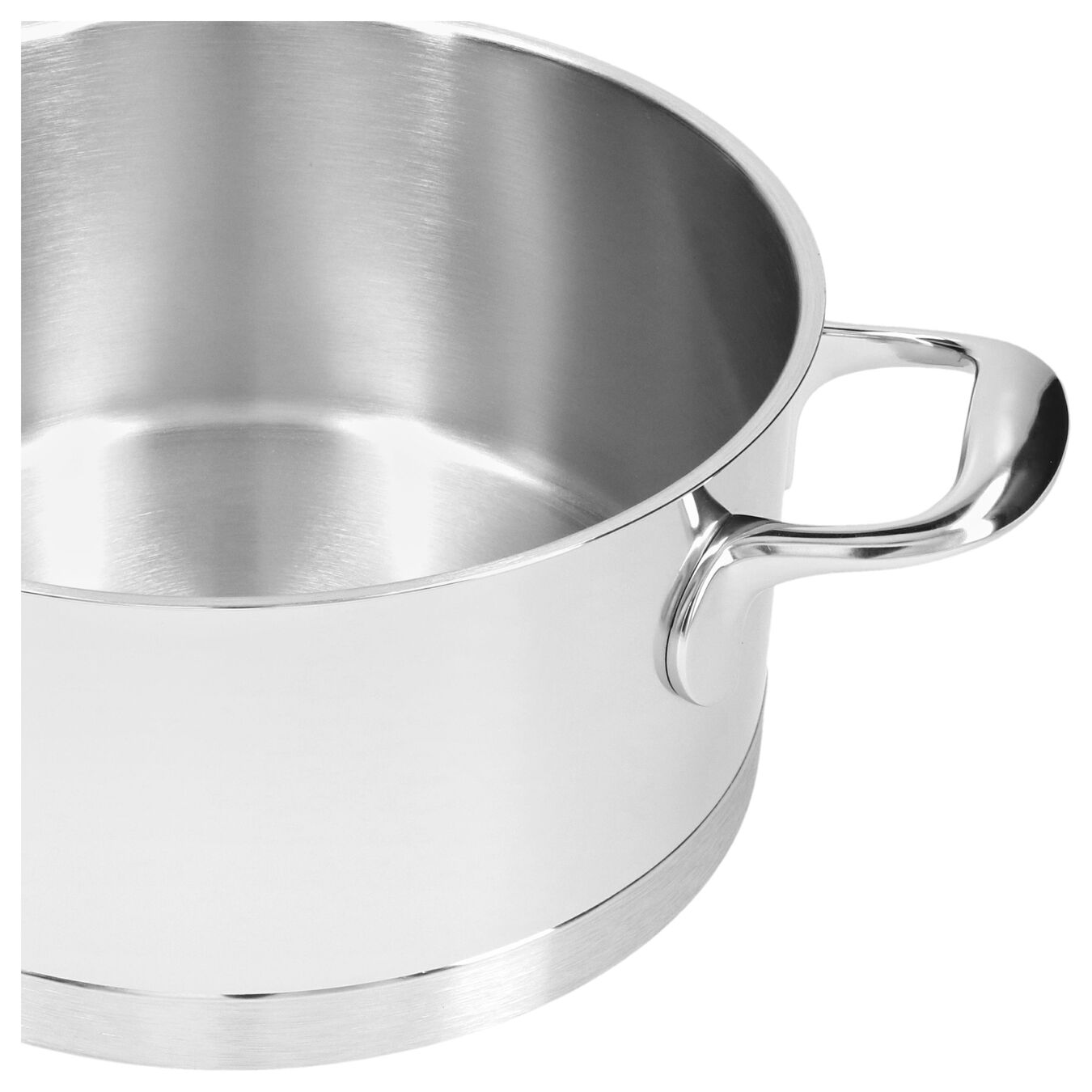 4.25 qt, 18/10 Stainless Steel, Stew pot with lid,,large 2