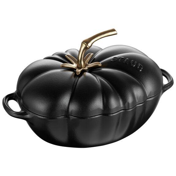 3-qt Tomato Cocotte, Black,,large