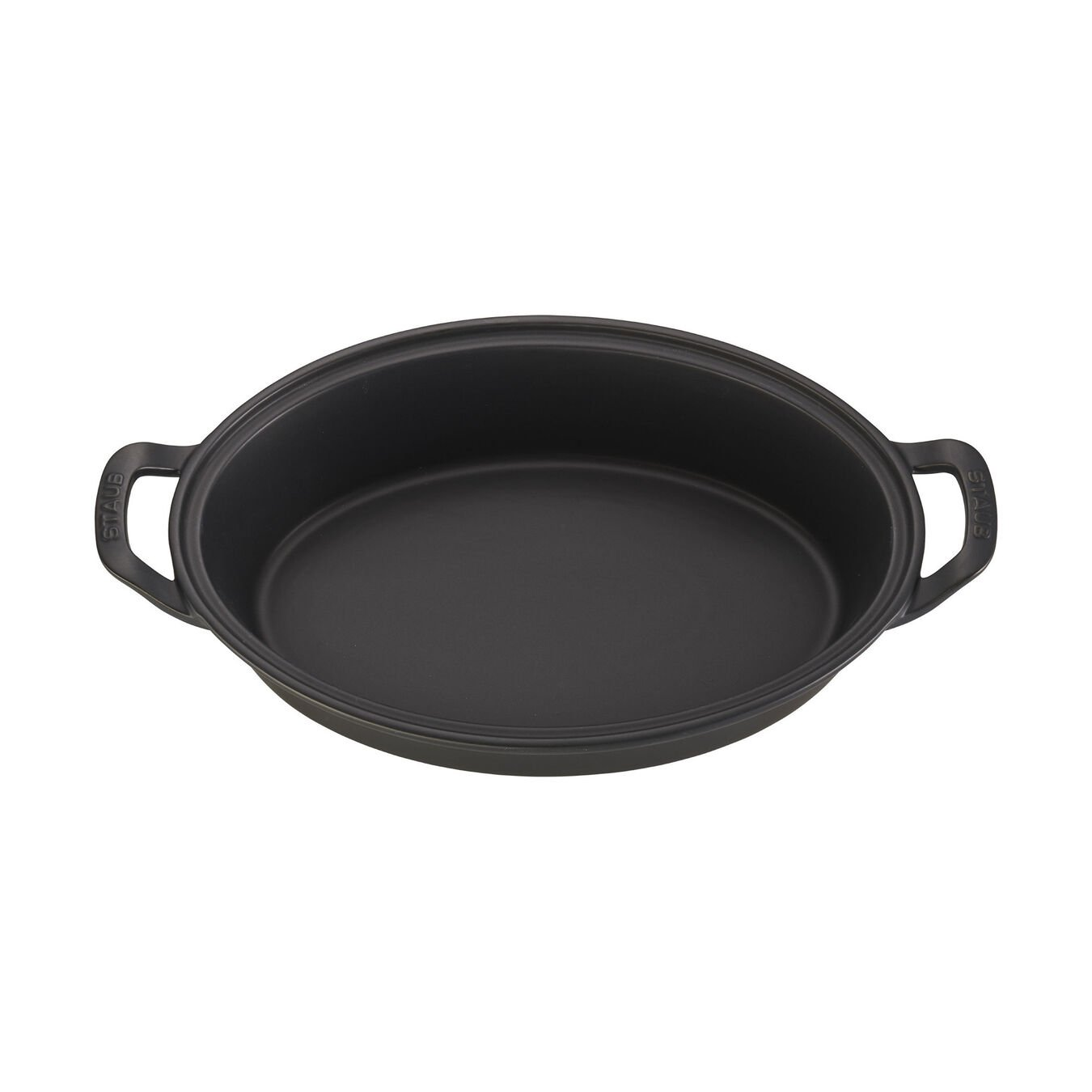 14-inch Oval Covered Baking Dish - Matte Black,,large 2