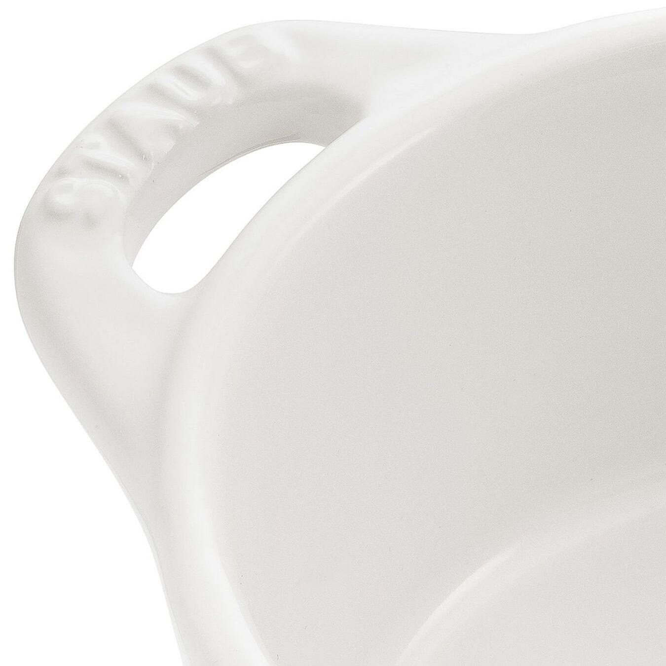 Mini Cocotte 10 cm, redondo, Branco puro, Cerâmica,,large 2