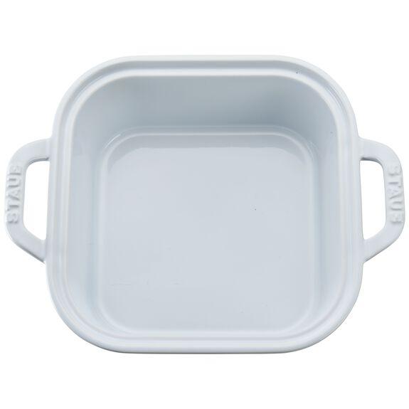Ceramic Square Covered Baking Dish, White,,large 2