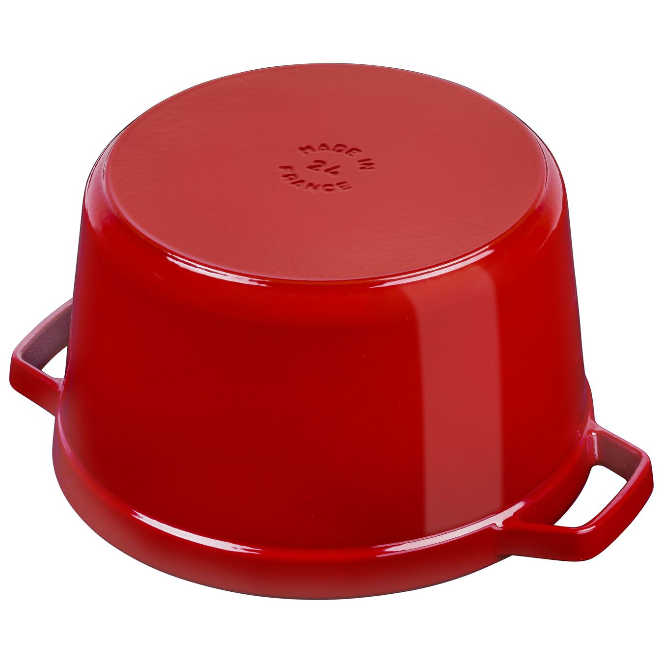 5 qt, round, Cocotte, cherry - Visual Imperfections,,large 4