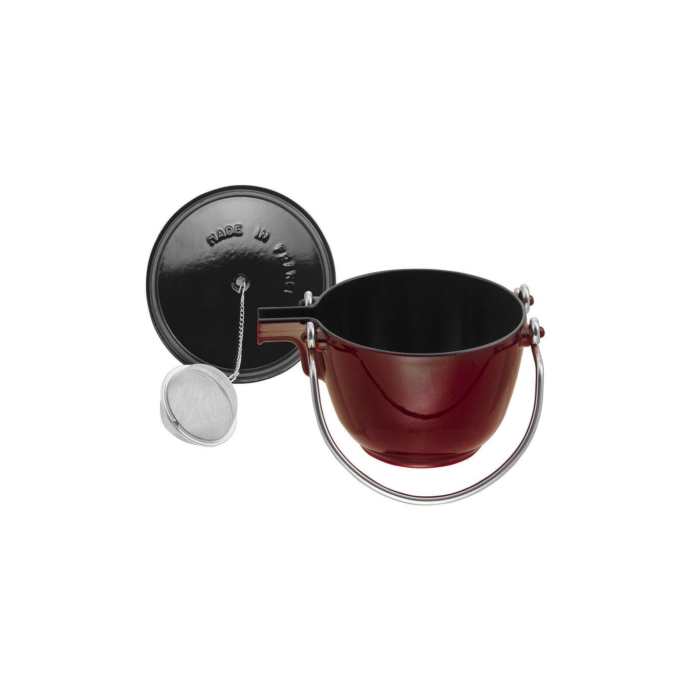 1.25 l Cast iron Tea pot, Grenadine-Red,,large 3