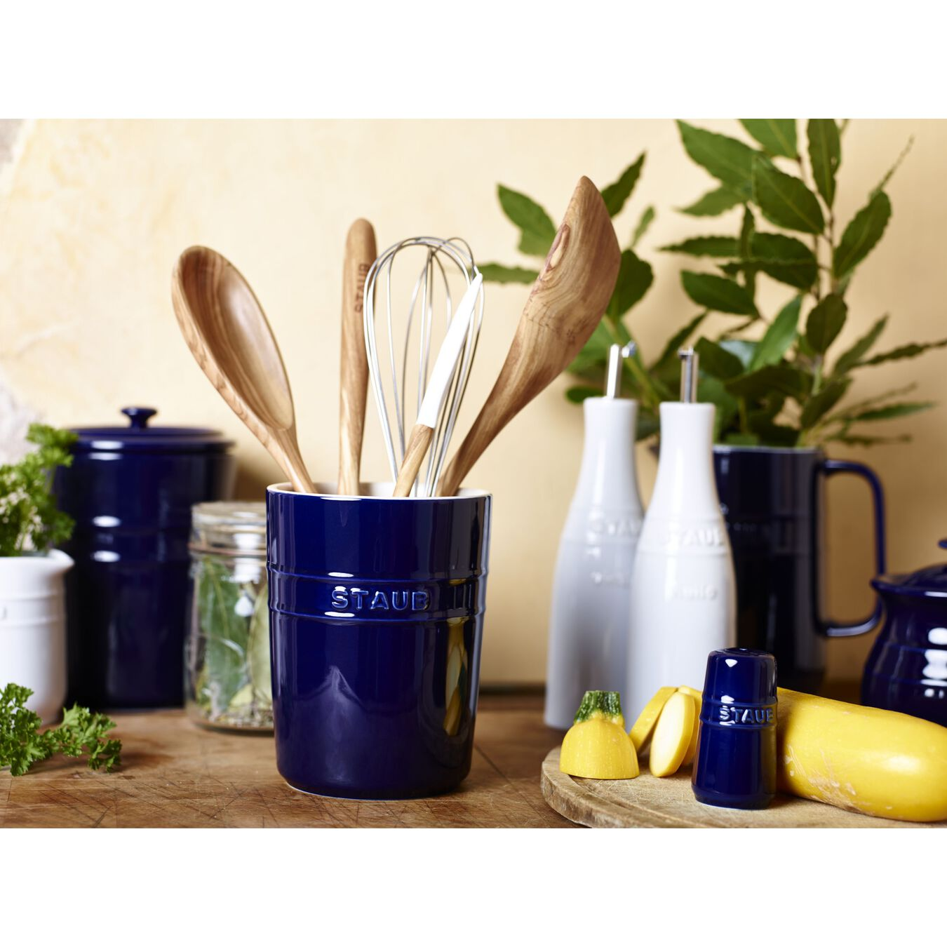 Utensil holder, dark blue,,large 3
