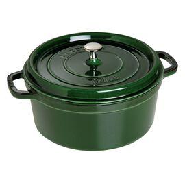 Staub Cast Iron, 7.25-qt round Cocotte, Basil