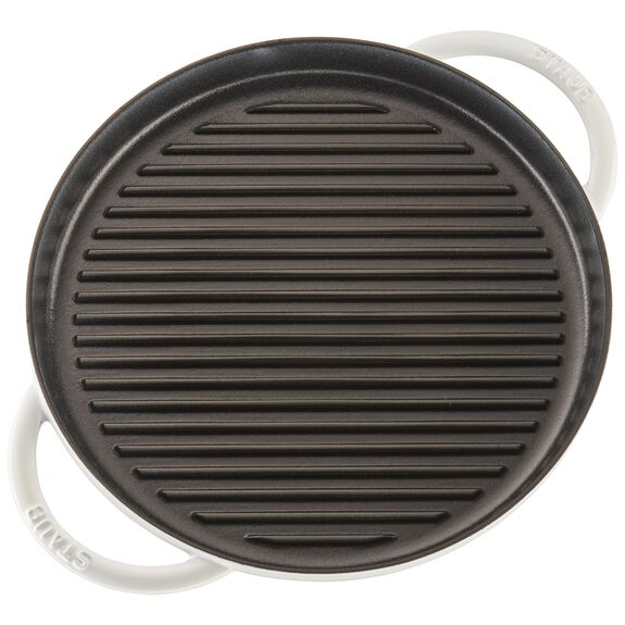 12-inch Round Steam Grill - White,,large 5