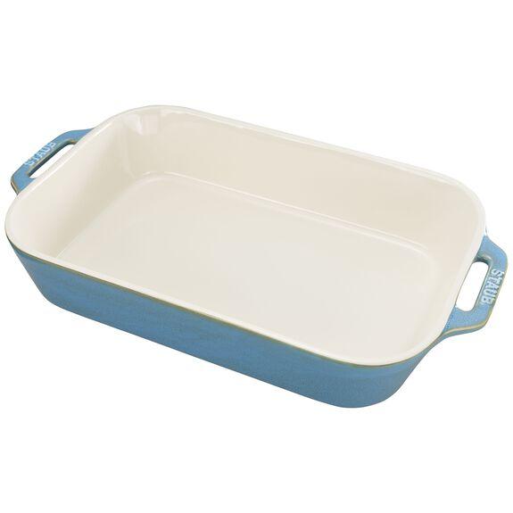 13x9-inch Rectangular Baking Dish, Rustic Turquoise, , large