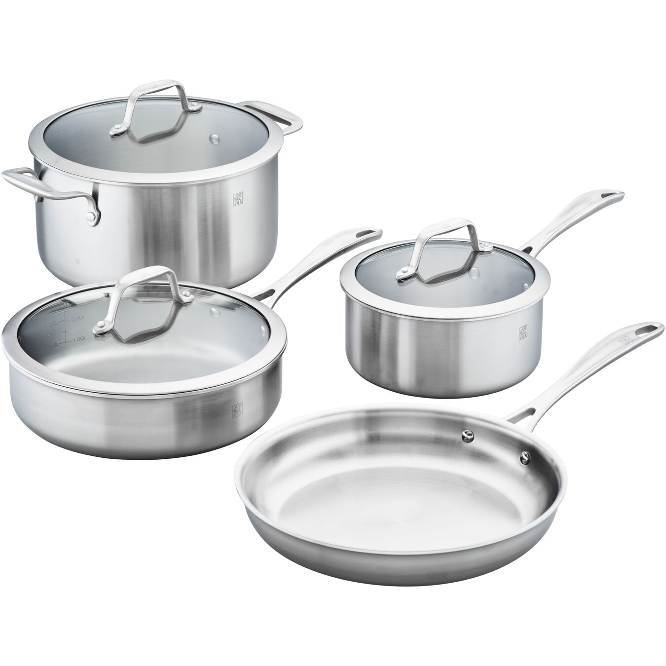 7-pc, 18/10 Stainless Steel, Pots and pans set,,large 1