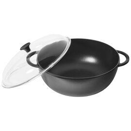 Staub Cast iron, 32 cm / 12.5 inch Glass Wok, black - Visual Imperfections