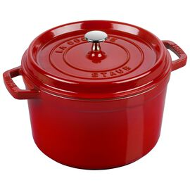 Staub Cast Iron - Tall Cocottes, 5 qt, round, Tall Cocotte, cherry