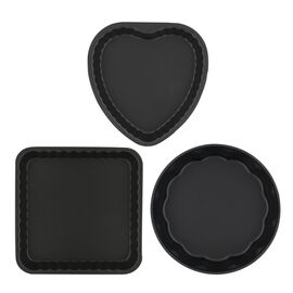 3-pc Nonstick 3-pc Scalloped Cake Pan Set