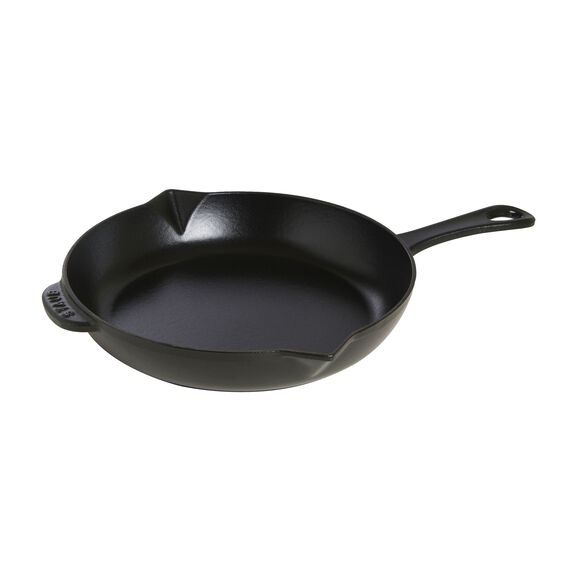 10-inch Cast iron Frying pan with pouring spout,,large 2