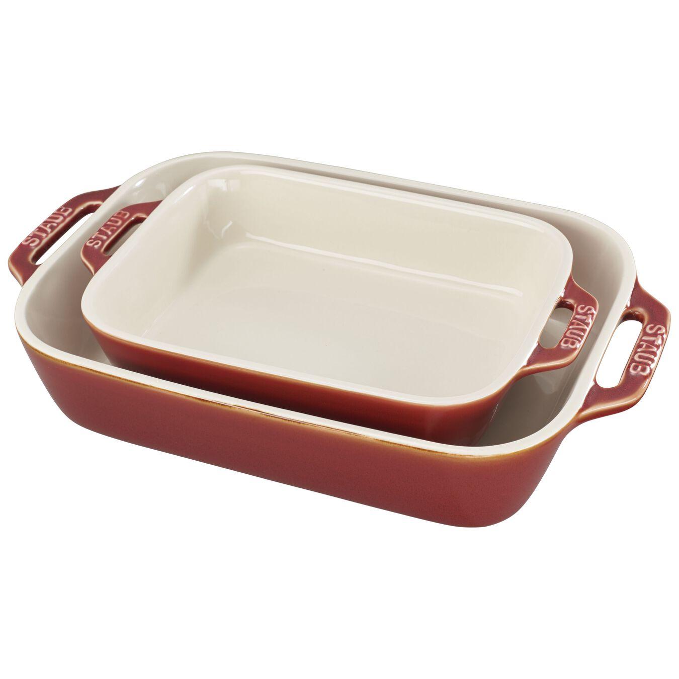 2 Piece rectangular Bakeware set, ancient-copper,,large 1
