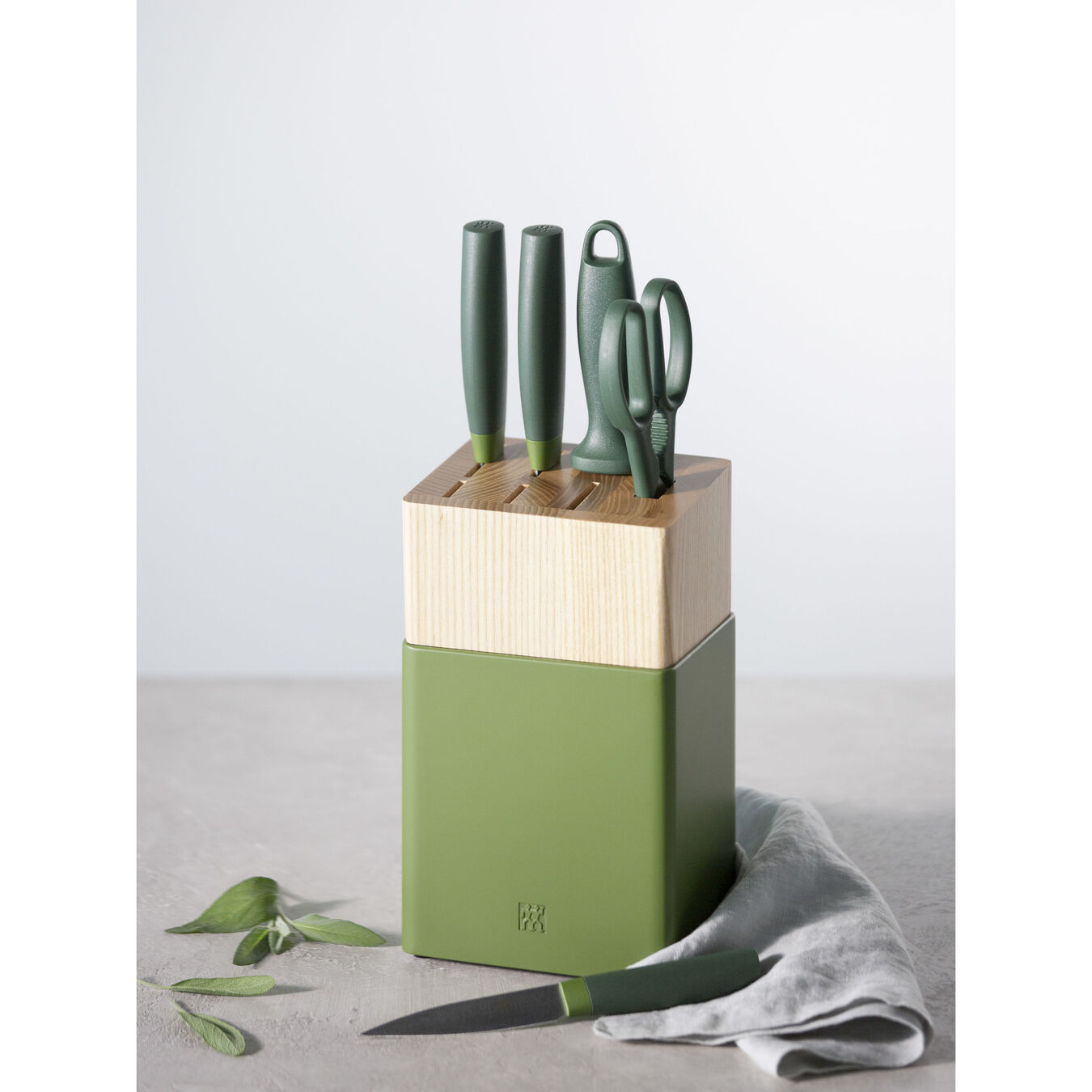 6-pc Knife Block Set - Lime Green,,large 4