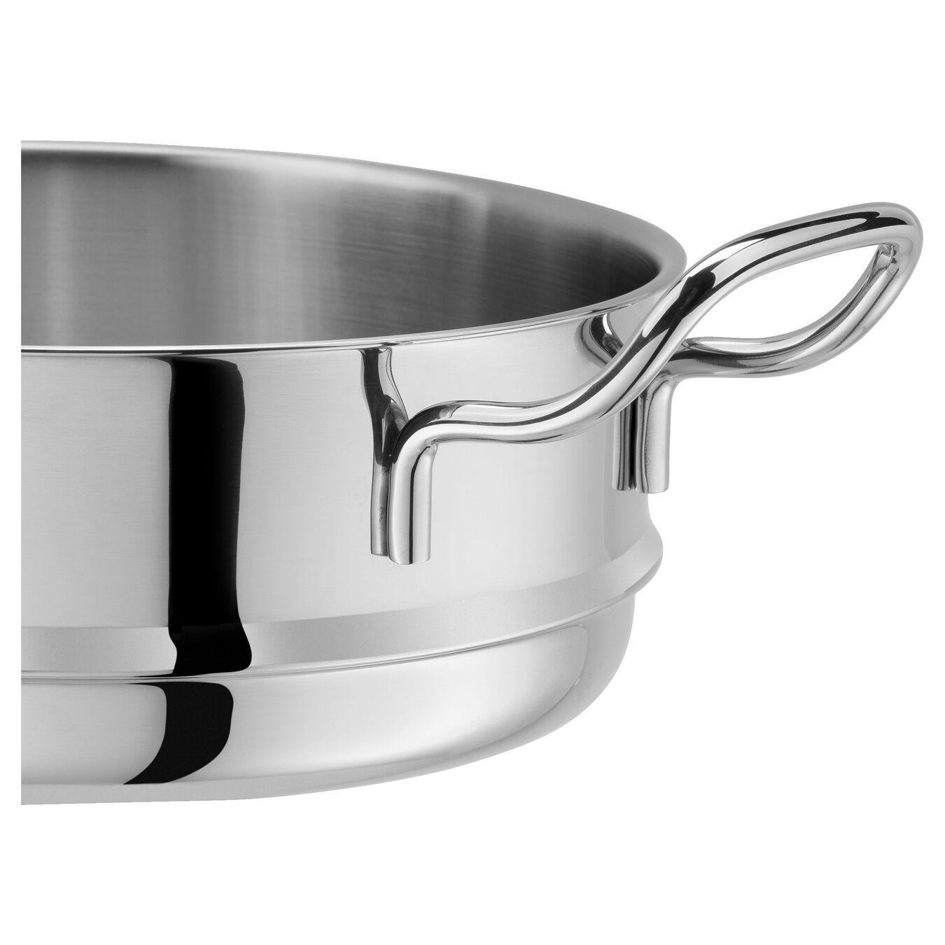 Buharda Pişirme Aparatı, Yuvarlak | 24 cm | 18/10 Paslanmaz Çelik | Metalik Gri,,large 3