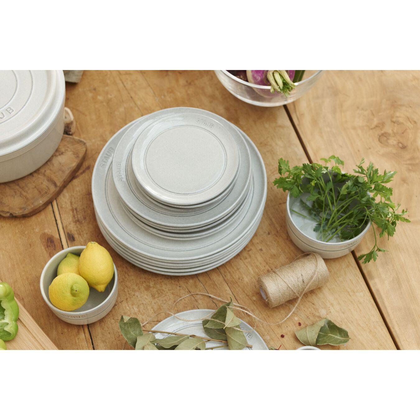 15 cm Ceramic round Assiette flat, White Truffle,,large 3