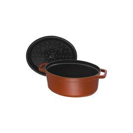 Staub Cast Iron, 4.25-qt Coq au Vin Cocotte - Burnt Orange