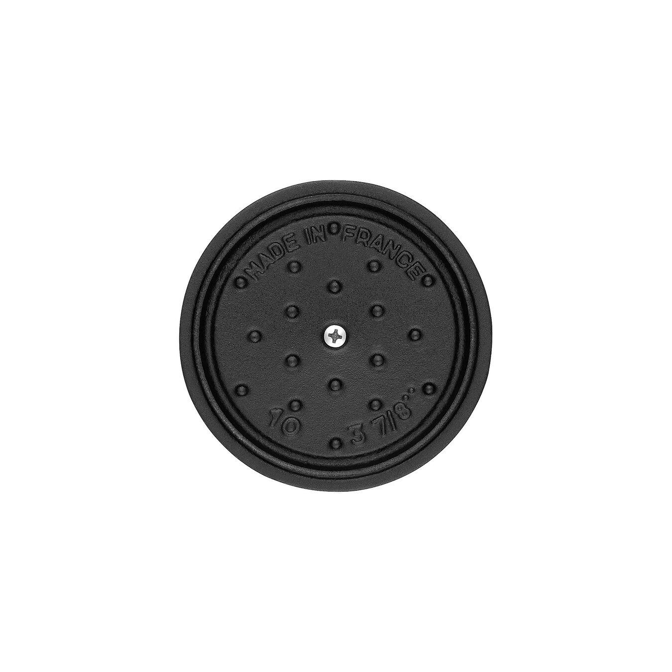 Mini cocotte rotonda - 10 cm, nero,,large 2