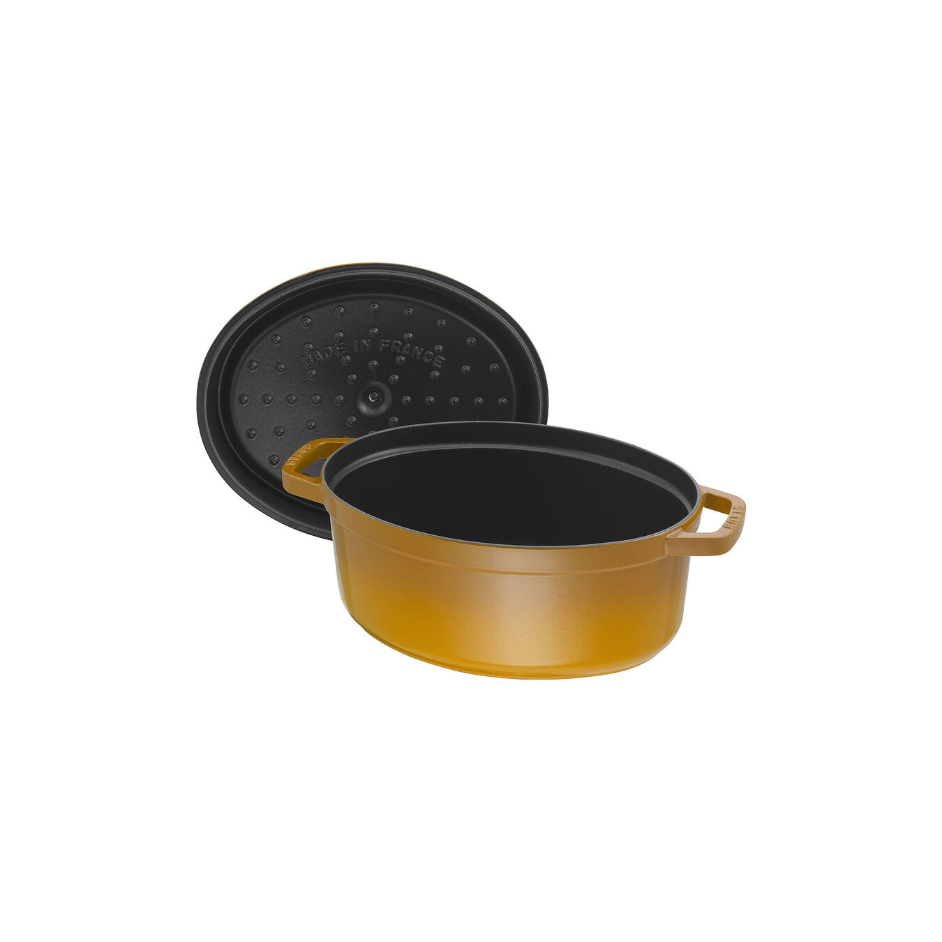 5.5 l oval Cocotte, mustard,,large 5