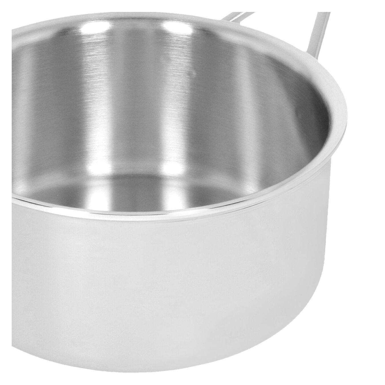 Casseruola con manico con coperchio - 18 cm, 18/10 acciaio inossidabile,,large 5