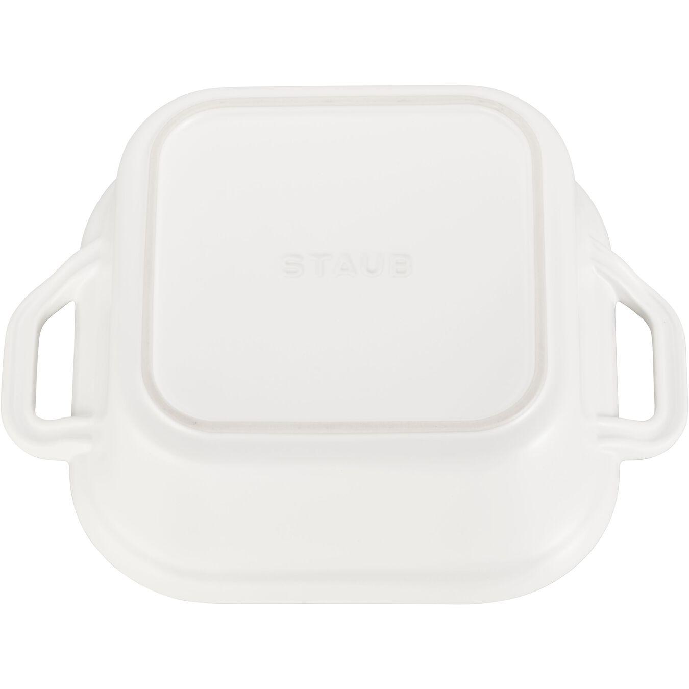 Ceramic square Special shape bakeware, matte-white,,large 3