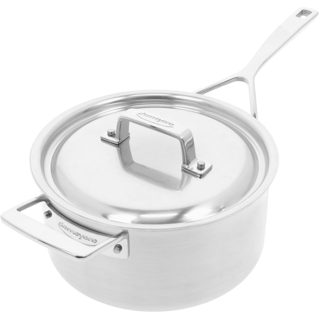 3.8 l round sauce pan with lid 4QT, silver,,large 5