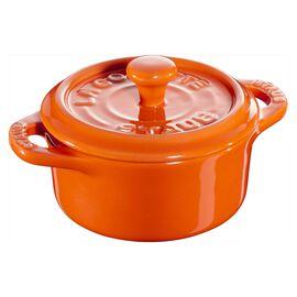 Staub Ceramique, Mini cocotte rotonda - 10 cm, arancione