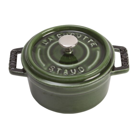 10-cm-/-4-inch round Mini Cocotte, Basil-Green,,large 4