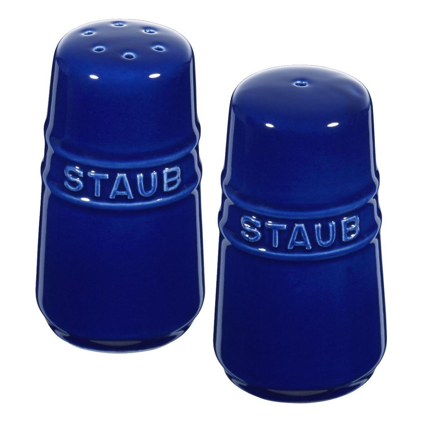 Salière et poivrière 7 cm, Céramique, Bleu intense,,large 1