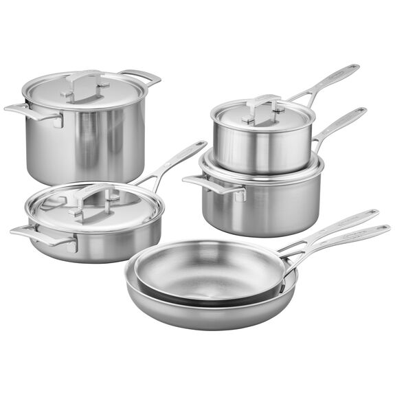 10-pc Stainless Steel Cookware Set,,large