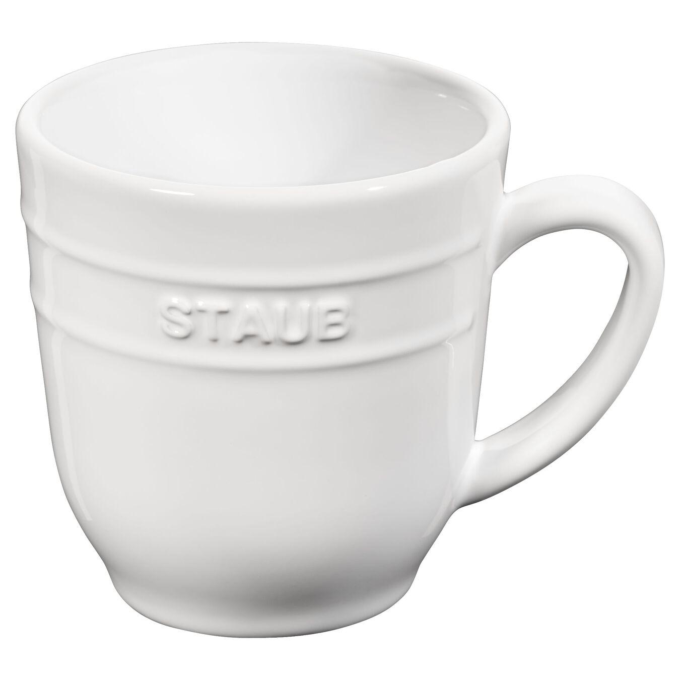 Ceramic round Mug, Pure-White,,large 1