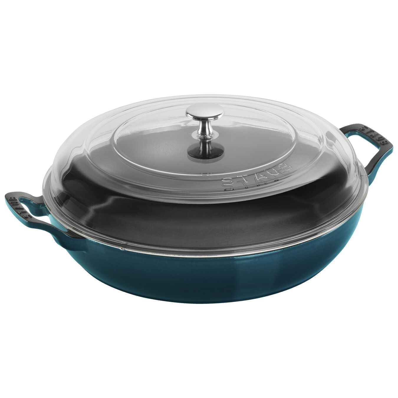 3.5 qt, Saute pan with glass lid, la mer,,large 1