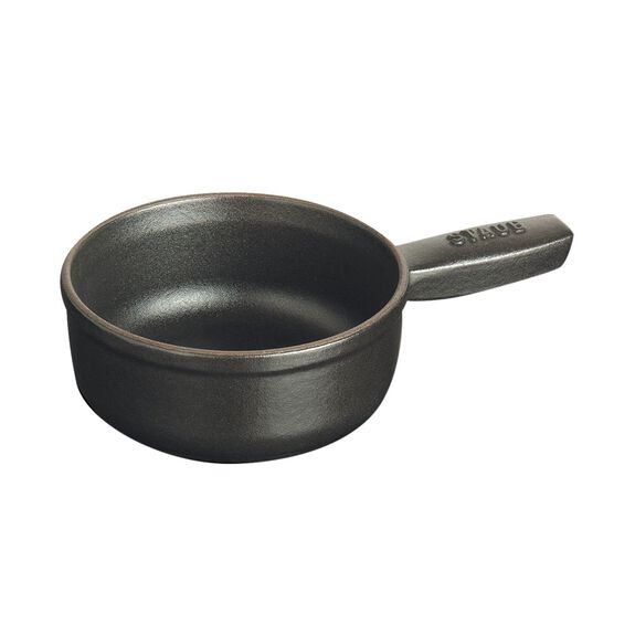 12-oz Mini Cheese Fondue Pot - Matte Black,,large 3