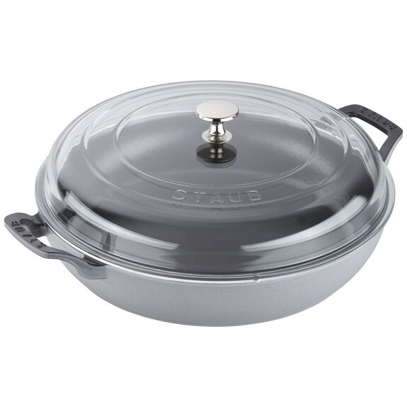 12-inch Enamel Braiser with Glass Lid	,,large 3