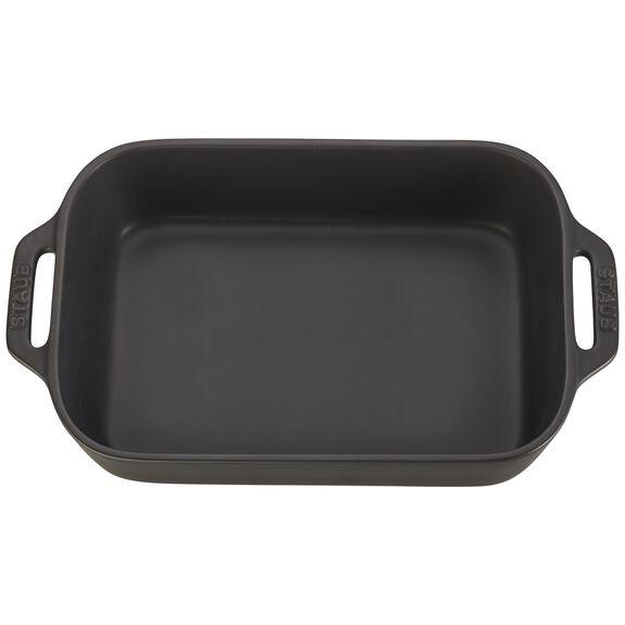 """10.5x7.5"""" Rectangular Baking Dish, Black Matte, , large 2"""