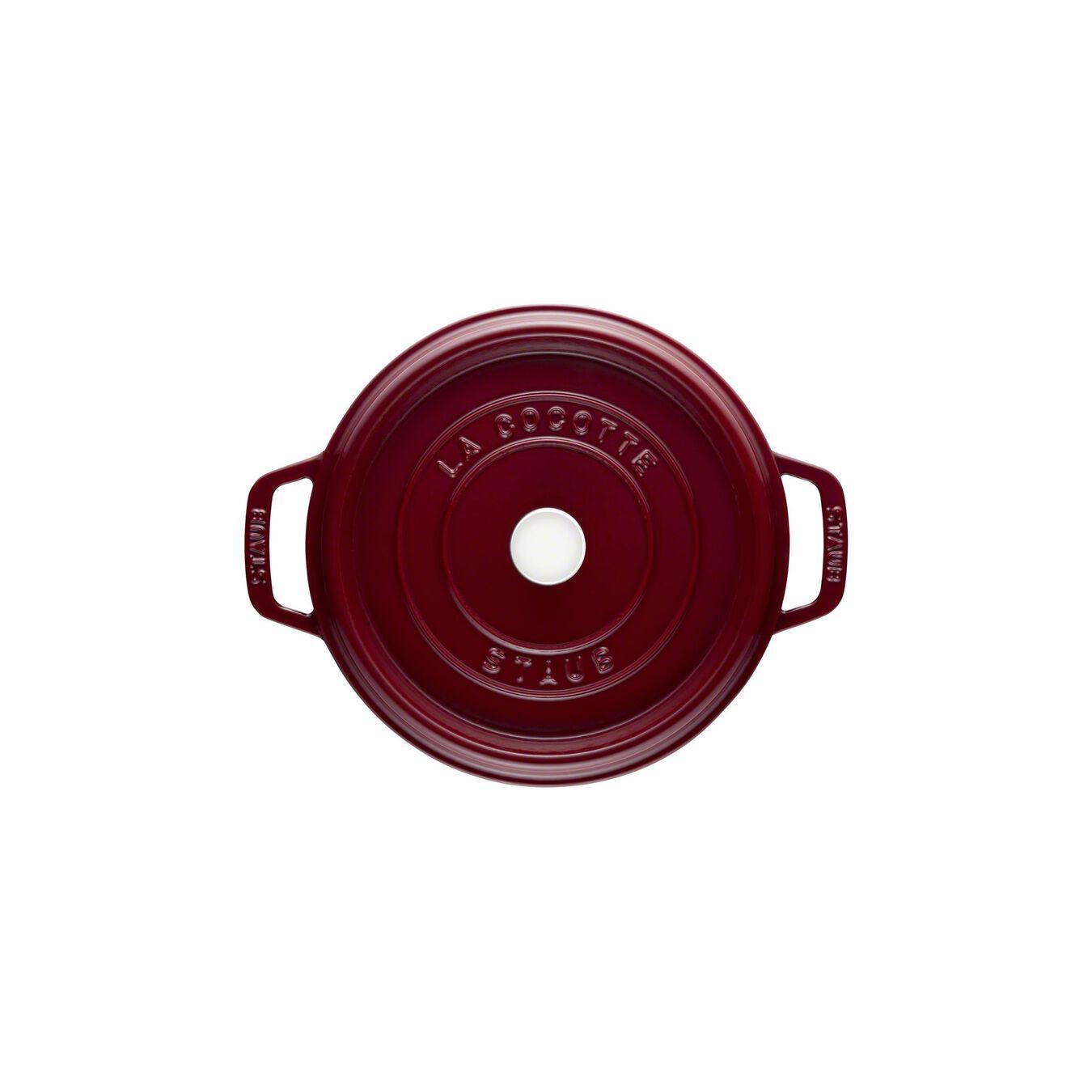 Cocotte 18 cm, rund, Bordeaux, Gusseisen,,large 7