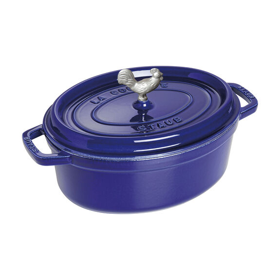 4.25-qt oval Cocotte, Dark Blue,,large