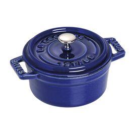 Staub Cast Iron, 4-inch round Mini Cocotte, Dark Blue