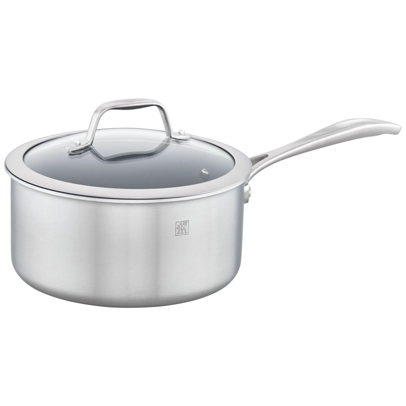 3-ply 3-qt Stainless Steel Ceramic Nonstick Saucepan,,large 1